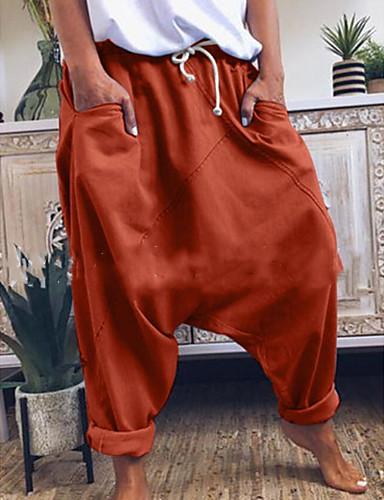 billige Herrebukser og -shorts-Herre Grunnleggende Løstsittende Harem Bukser - Ensfarget Gul Oransje Grå US34 / UK34 / EU42 / US36 / UK36 / EU44 / US38 / UK38 / EU46
