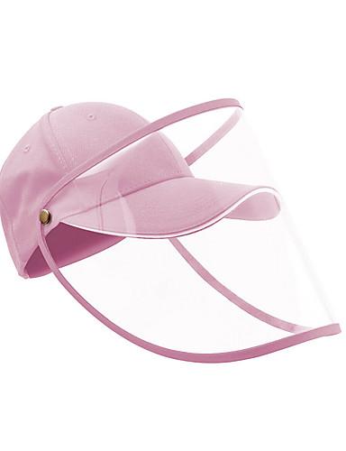 저렴한 여성용 악세사리-여성용 기본 폴리 에스터 풀 페이스 보호 모자 / 여름 야외 원예 / 접이식 / 비치 / 자외선 차단제 태양 모자 큰 테두리 야구 모자