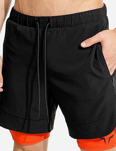 abordables Vêtements de sport-Homme Sportif Ample Short Pantalon Multicolore Noir Rouge Orange US32 / UK32 / EU40 US34 / UK34 / EU42 US36 / UK36 / EU44