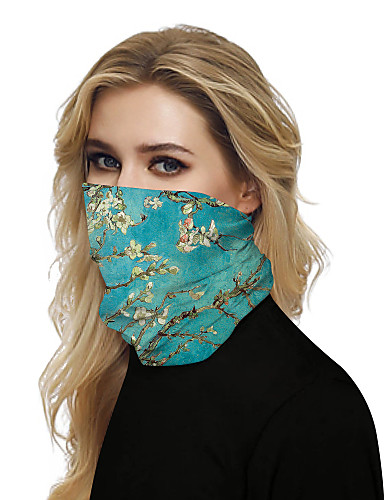cheap Women's Accessories-Women's Bandana Balaclava Neck Gaiter Neck Tube UV Resistant Quick Dry Lightweight Materials Cycling Polyester for Men's Women's Adults / Pollution Protection / Floral Botanical Sunscreen / High Breat
