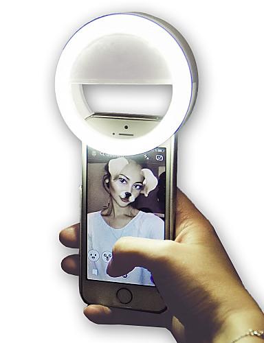 economico Casa e giardino-Tonda Luce notturna a LED Luce intelligente a LED 3 modi Oscurabile Flash per selfie Batterie AAA alimentate 1 pc