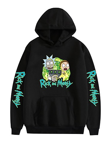 cheap Everyday Cosplay Anime Hoodies & T-Shirts-Inspired by Rick and Morty Dali Cosplay Costume Hoodie Pure Cotton Print Printing Hoodie For Men's / Women's