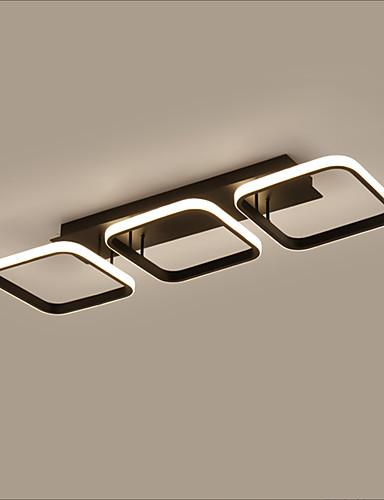 billige Taklamper-3-Light 78 cm Square Line Design Skyllmonteringslys Aluminum Malte Finishes LED Moderne 110-120V 220-240V
