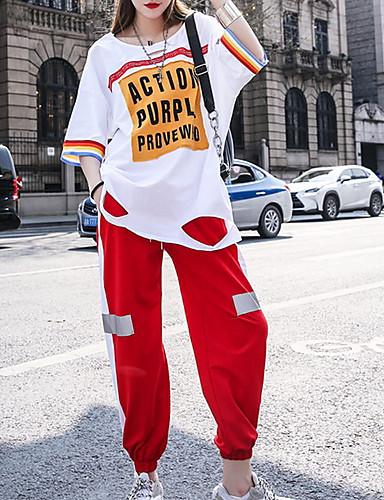 cheap Hip Hop Dancewear-Hip Hop Top Pattern / Print Women's Performance 3/4 Length Sleeve Cotton