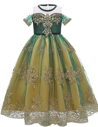 cheap Movie & TV Theme Costumes-Frozen Princess Anna Dress Girls' Movie Cosplay Halloween Christmas Green Dress Christmas Halloween