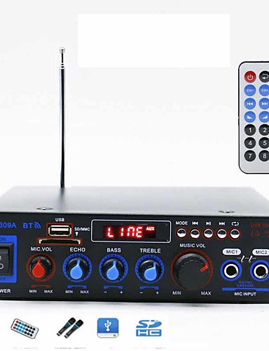 cheap Amplifiers & Effects-Power Amplifier Digital Audio Stereo Hi-Fi 50+50 2.0 BT-309A 80 for Car Home Theater Speakers DIY