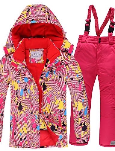 povoljno Sí és snowboard-Djevojčice Skijaška jakna Skijaške hlače Skijanje Camping & planinarenje Zimski sportovi Vodootporno Vjetronepropusnost Toplo Poliester Topla majica Tople hlače Sportska odijela Skijaška odjeća
