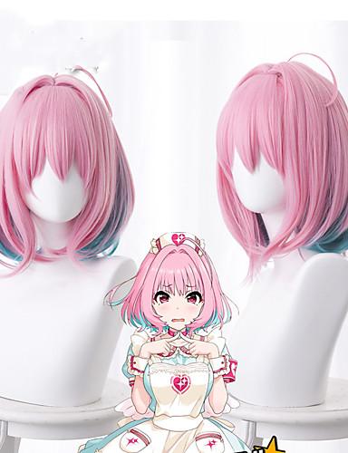 cheap Cosplay Wigs-Yumemite Yumemi Cosplay Wigs Women's Bob 14 inch Heat Resistant Fiber kinky Straight Pink Pink Anime