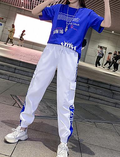 cheap Hip Hop Dancewear-Hip Hop Top Pattern / Print Women's Performance Short Sleeve Cotton