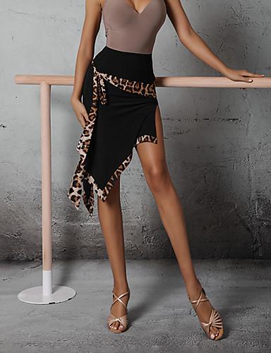 זול הלבשה לריקודים לטיניים-ריקוד לטיני חצאיות מפרק מפוצל סגנון רצועות תחבושות בגדי ריקוד נשים הצגה גבוה ספנדקס