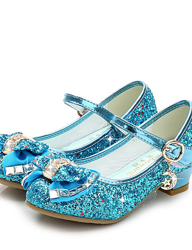 cheap Cosplay & Costumes-Princess Elsa Shoes Girls' Movie Cosplay Sequins Golden / Black / Red Shoes Children's Day Masquerade