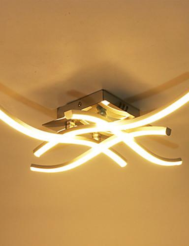 billige Taklamper-Moderne 18w og 24w ledet taklampe gaffeltert aluminiumslampe for stue dekorasjon 85-265v