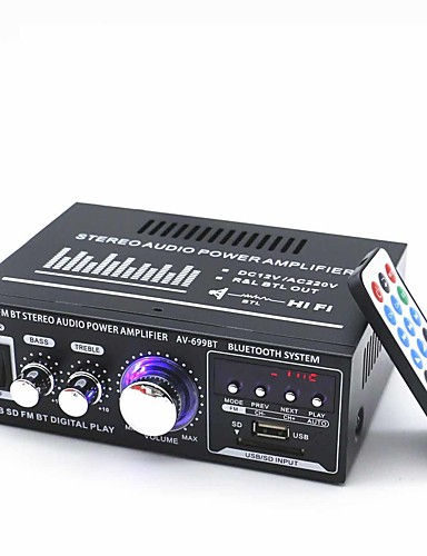 cheap Amplifiers & Effects-Power Amplifier Digital Audio Stereo Hi-Fi 30 2.0 699BT USB 1.0/1.1 80 for Car Home Theater Speakers DIY