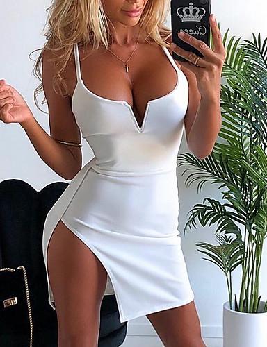 preiswerte Minikleider-2020 Sommer trendige sexy Cami Mini Slip Kleid