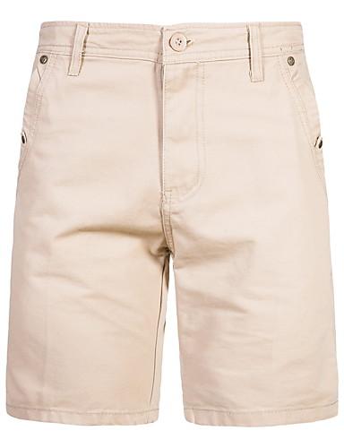 billige Underdele til mænd-Herre Militær Shorts Bukser - Ensfarvet Sort Kakifarvet Grøn US34 / UK34 / EU42 US36 / UK36 / EU44 US38 / UK38 / EU46