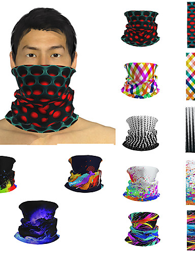 cheap Bandana-Men's / Unisex 3D Print Square Scarf / Infinity Scarf / Hijab - Print / Color Block Multifunctional