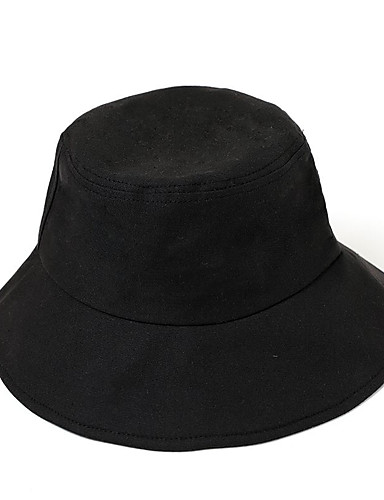cheap Men's Hats-Men's Bucket Hat Polyester Basic - Color Block Fall Black