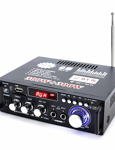 cheap Amplifiers & Effects-Digital Audio Stereo Hi-Fi 40+40 2.0 298A 20-20 Hz 80 for Car Home Theater Speakers DIY