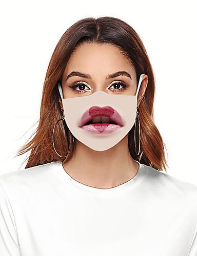 お買い得  メンズアクセサリー-マスク 女性用 ポリエステル フリーサイズ ベージュ 1個 / パック 大人 紫外線カット 日常 ベーシック オールシーズン