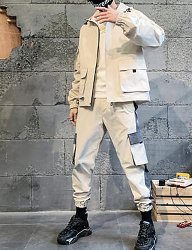 cheap Hip Hop Dancewear-Hip Hop Coat Pattern / Print Men's Performance Daily Wear Long Sleeve POLY
