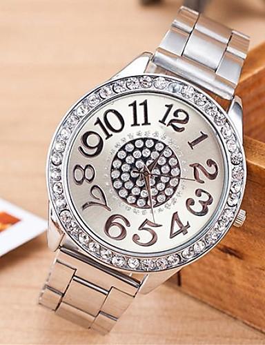 hesapli Moda Saatler-Kadın's Quartz Moda Gümüş Alaşım Çince Quartz Gül Altın Altın Gümüş Gündelik Saatler Analog Bir yıl Pil Ömrü