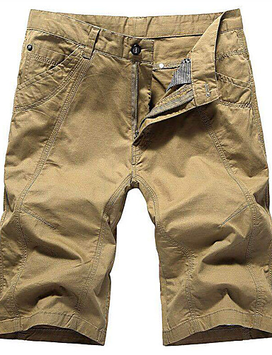 cheap Hiking Trousers & Shorts-Men's Hiking Shorts Summer Outdoor Breathable Quick Dry Stretchy Sweat-wicking Cotton Shorts Bottoms Hunting Fishing Climbing Black Khaki Green 30 31 32 33 34 / Wear Resistance