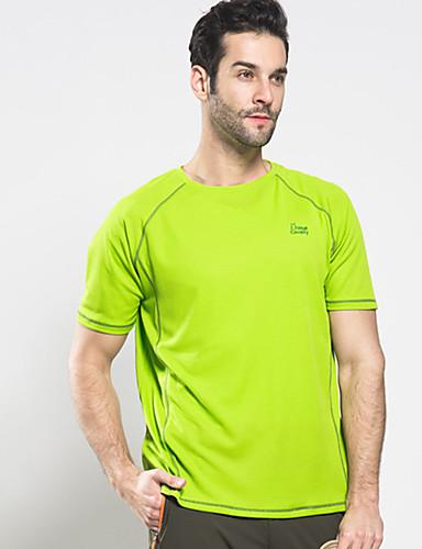 billige Sports Athleisure-Herre Løbe-T-shirt Kortærmet Åndbart Hurtigtørrende Svedtransporende Gym træning Løb Aktiv træning Vandring Jogging Sportstøj T-Shirt Blå Mørkegrå Grøn Lysegrå Sportstøj Elastisk