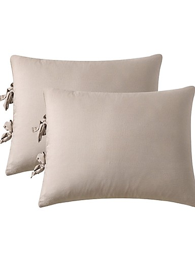 cheap Sheet Sets& Pillowcases-Solid Color Bed Pillow Cover/Shams Set of 2/Two Size Without Insert (2 Pack Pillowcase)