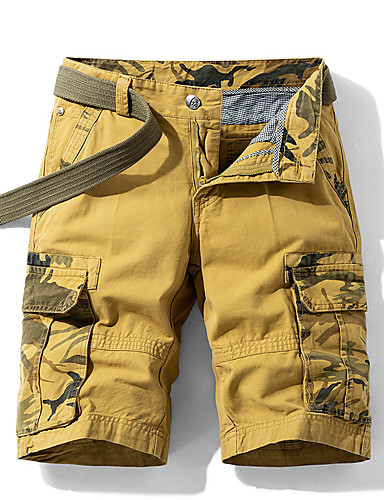 """cheap Hiking Trousers & Shorts-Men's Hiking Shorts Hiking Cargo Shorts Camo Summer Outdoor 10"""" Standard Fit Breathable Quick Dry Sweat-wicking Multi-Pocket Cotton Shorts Bottoms Army Green Blue Orange Khaki Camping / Hiking"""