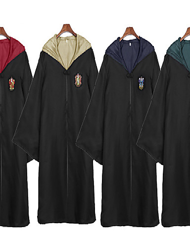 cheap Movie & TV Theme Costumes-Assassin Magic Harry Gryffin d'or Slytherin Cloak Men's Women's Movie Cosplay Yellow / Red / Green Terylene