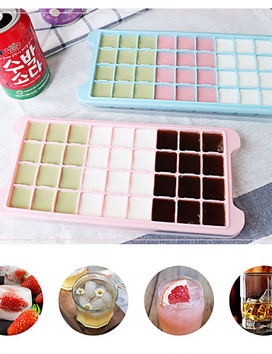 cheap Drinkware-24 Grid Ice Cube Mold Silicone Ice Cube Tray Square Ice Tray Mold Easy Release Silicone Ice Cube Maker Bar Kitchen Accessories