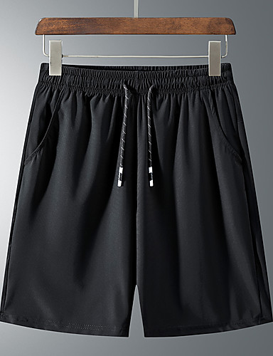 """cheap Hiking Trousers & Shorts-Men's Boys' Hiking Shorts Summer Outdoor 10"""" Breathable Quick Dry Ventilation High Elasticity Elastane Shorts Bottoms Black Camping / Hiking Hunting Fishing M L XL XXL XXXL / Wear Resistance"""