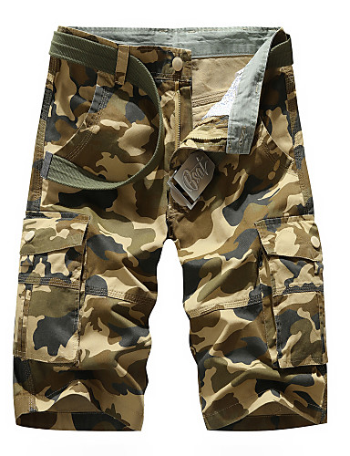 cheap Men's Pants & Shorts-Men's Basic Daily Shorts Tactical Cargo Pants - Camouflage Breathable Army Green Khaki XS / US32 / UK32 / EU40 / M / US36 / UK36 / EU44 / L / US38 / UK38 / EU46
