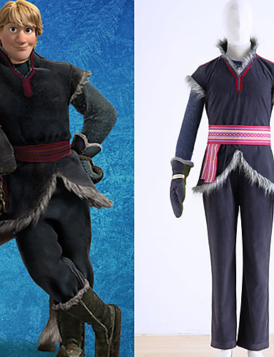 cheap Anime Costumes-Inspired by Cosplay kristoff Anime Cosplay Costumes Japanese Cosplay Suits Vest Top Pants For Men's Boys' / Gloves / Sash / Ribbon