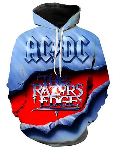 cheap Men's Hoodies & Sweatshirts-Men's Hoodie Print Basic Blue Red Yellow XS / US32 / UK32 / EU40 M / US36 / UK36 / EU44 L / US38 / UK38 / EU46 XL / US40 / UK40 / EU48