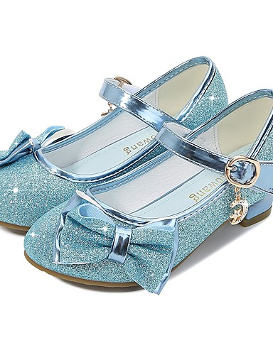 cheap Movie & TV Theme Costumes-Cinderella Princess Elsa Shoes Girls' Movie Cosplay Sequins Golden / Purple / Pink Shoes Children's Day Masquerade Polyester