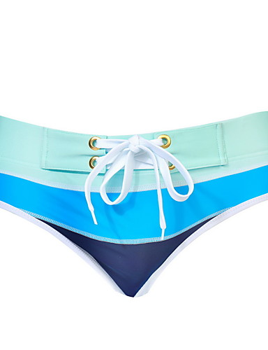 cheap Surfing, Diving & Snorkeling-Men's Drawstring One Piece Swimsuit Swim Trunks Patchwork Swimwear Blue Black / Pink Blue / White Breathable Swimming Summer / Spandex / Micro-elastic
