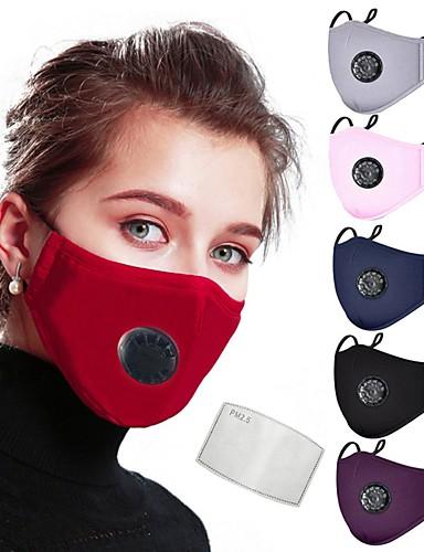 billige Ansiktsmaske-Anti-Tåke Støvtett Vern Sykkel / Sykling Mørkerød Marineblå Hvit til Dame Voksne Ensfarget / Maske / Maske
