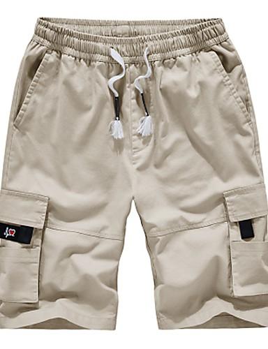 זול מכנסיים ושורטים לגברים-מכנסיים בגדי ריקוד גברים שורטים / מכנסי מטען אחיד ספורטיבי / בסיסי נושם