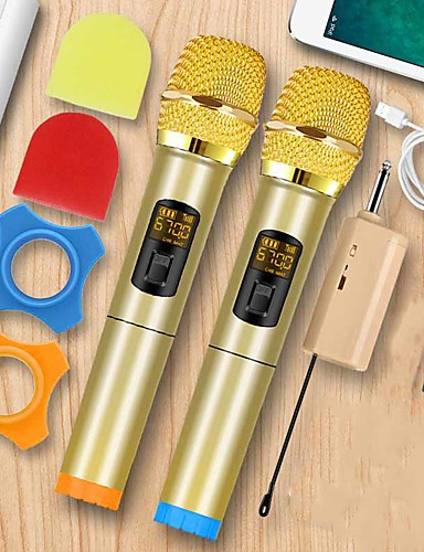 cheap Microphones & Accessories-microphone dynamic microphone portable singing handheld design speaker 72 for conference stage ktv interview home 3 w battery powered 50-15000 hz for studio recording & broadcasting