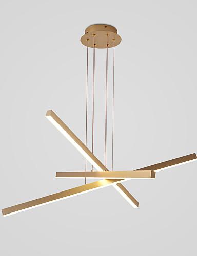 billige Anheng Lys-3-Light 80 cm Cluster Design Anheng Lys Aluminum Malte Finishes Natur-inspireret / LED 110-120V / 220-240V
