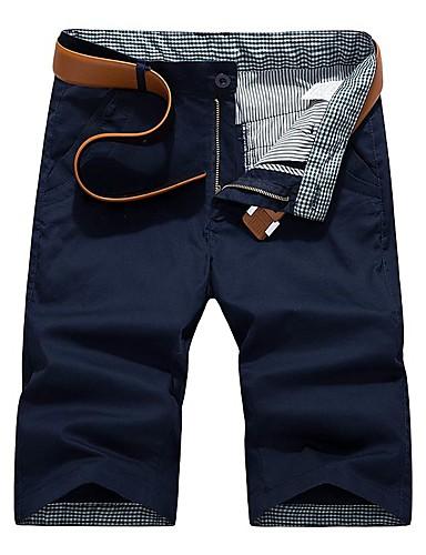 זול מכנסיים ושורטים לגברים-מכנסיים בגדי ריקוד גברים צ'ינו / שורטים אחיד בסיסי נושם