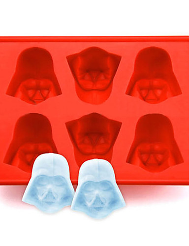 cheap Drinkware-1pcs Fun Star Wars Darth Vader Cocktails Silicone Mold Ice Cube Tray Chocolate Fondant Mould diy Bar Party Drink