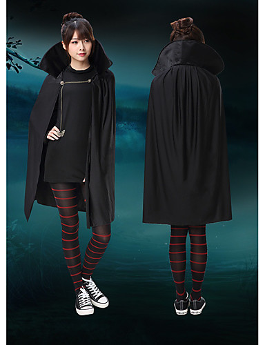 cheap Halloween & Carnival Costumes-Mavis Cosplay Costume Outfits Kids Girls' Cosplay Halloween Halloween Festival / Holiday Polyster Black Carnival Costumes / Dress / Pants / Cloak