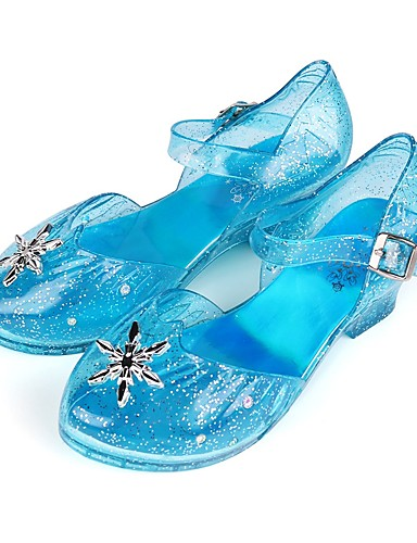 cheap Movie & TV Theme Costumes-Princess Elsa Shoes Girls' Movie Cosplay LED Shoes Blue Shoes Children's Day Masquerade Plastics