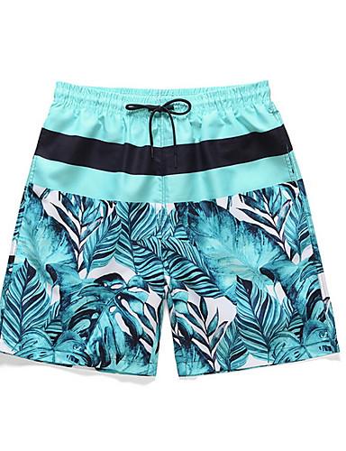 billige Herrebukser og -shorts-Herre Grunnleggende Shorts Bukser - Trykt mønster Fort Tørring Lyseblå M / US36 / UK36 / EU44 / L / US38 / UK38 / EU46 / XL / US40 / UK40 / EU48