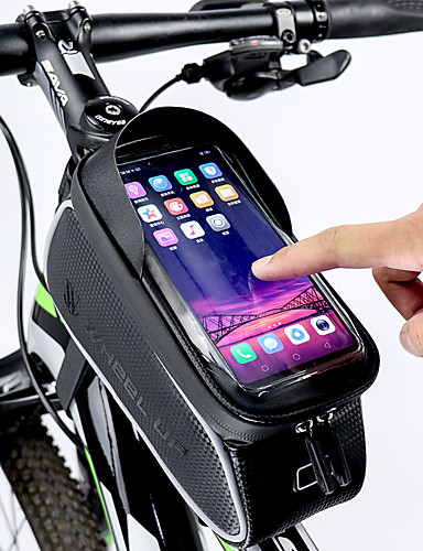 cheap Cycling-ROCKBROS Cell Phone Bag Bike Frame Bag Top Tube 6 inch Touch Screen Reflective Waterproof Cycling for All Phones iPhone X iPhone XR Black Road Bike Mountain Bike MTB / iPhone XS / iPhone XS Max