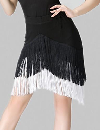 זול הלבשה לריקודים לטיניים-ריקוד לטיני חצאיות פרנזים בגדי ריקוד נשים הדרכה ספנדקס