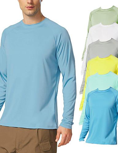 cheap Surfing, Diving & Snorkeling-21Grams Men's Long Sleeve T-Shirt Sun Protection UPF 50+ UV Outdoor Dri-fit T-Shirt Rashguard Shirts for Cycling Running Fishing Hiking