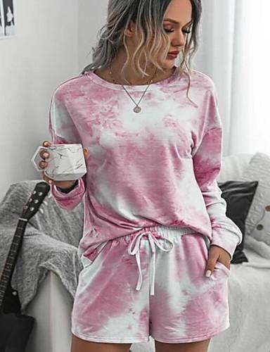 cheap Sweaters & Cardigans-Women's Set - Color Block Rainbow Pant